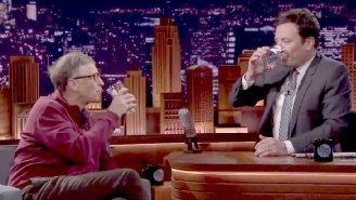 Watch Bill Gates Trick Jimmy Fallon Into Drinking A Glass Of Poop Water