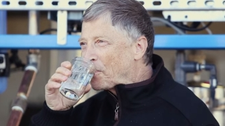 Here Is Bill Gates Drinking A Glass Of Water That Used To Be Human Poop