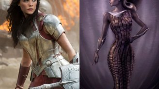 Check out these fantastic black Lady Sif designs from early 'Thor' concept art