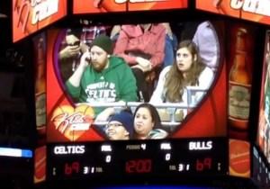 Watch Benny The Bull Steal A Kiss From A Celtics Fan's Girlfriend On Kiss Cam