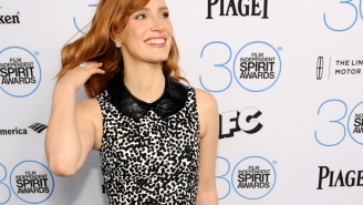 Jessica Chastain charms and Rene Russo holds court at pre-Globes gatherings