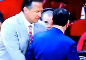 NC State's Mark Gottfried Got A Bit Fresh With Coach K After His Team's Upset Win Over Duke