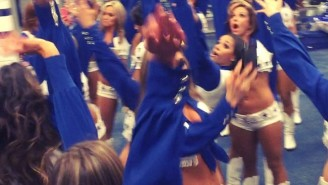 Nobody Celebrated Harder Than The Dallas Cowboys Cheerleaders After The Team's Playoff Win