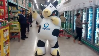 The Dancing Cow That Everyone In The Grocery Store Ignores Is Back