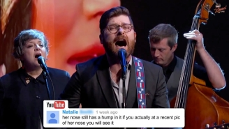 The Decemberists Sang YouTube Comments About Bieber And Obama On 'Kimmel'