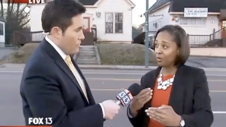 Watch This Pushy News Reporter Get Owned By A Daycare Employee