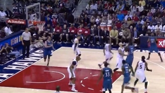 Video: Gorgui Dieng's Bullet Pass Banks Hard Off The Glass For Two Points