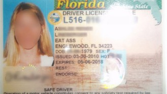Florida Woman's Driver's License Says She Lives On 'Eat Ass' Street