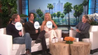 Watch Johnny Depp And Gwyneth Paltrow Play A Revealing Game Of 'Never Have I Ever' On 'Ellen'
