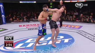 This Spinning Back Fist Knockout Was The Best Thing From UFC 182