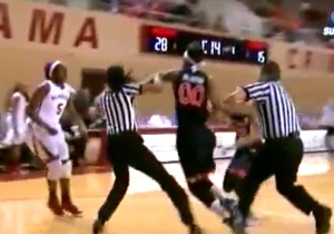 Watch This Little Brouhaha Erupt During A Women's College Basketball Game