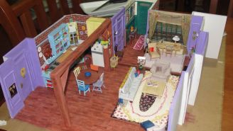 This 'Friends' Superfan's Tiny Replica Of Monica Geller's Apartment Is Incredibly Detailed