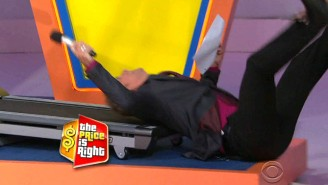 'The Price Is Right' Announcer Eats It While Trying To Jog Backwards On A Treadmill