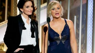 Tina Fey and Amy Poehler exit the Golden Globes in a blaze of glory