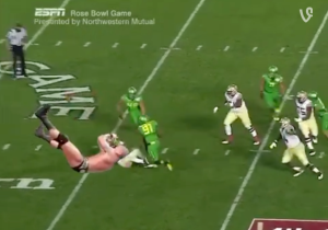 Watch Jameis Winston Get RKO'd From Outta Nowhere In Today's Best Explanation For That Rose Bowl Fumble