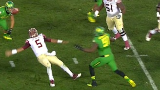 Watch Florida State's Jameis Winston Commit An All-Time Gaffe During The Rose Bowl