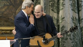 Watch John Kerry Apologize To France With James Taylor And The Song 'You've Got A Friend'