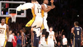 Check Out This Priceless Exchange Between Nick Young And Jeremy Lin Of The Los Angeles Lakers