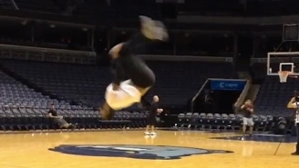 Video: Raptors' James Johnson Makes Standing Backflip Look Easy