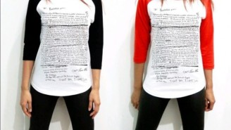 Someone Made A T-Shirt With Kurt Cobain's Suicide Note On It