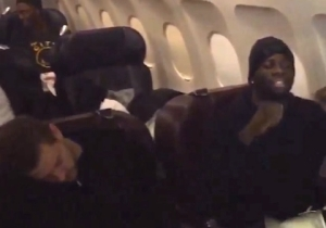 "Video: Warriors Celebrate Win On Team Plane With ""We Dem Boyz"""