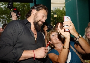 A 74-Year-Old Woman Asked Jason Momoa About 'Aquaman' And He Spilled The Beans