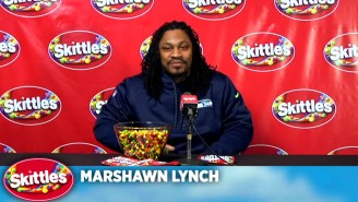 Marshawn Lynch Finally Answers Questions In This Fake Press Conference For Skittles