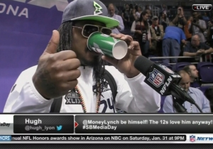 Marshawn Lynch Is Just There So He Won't Get Fined