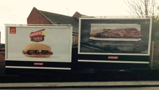 This Very Poor Ad Placement Will Make You Think Twice About A McRib