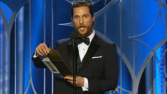 Matthew McConaughey Channeled A Civil War Colonel When Presenting At The Golden Globes