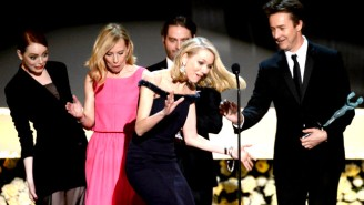 Here's The Exact Moment Naomi Watts Almost Face-Planted At The SAG Awards