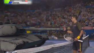 Novak Djokovic vs. a Tank: Advantage BOOM