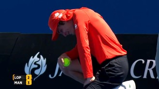 Watch This Australian Open Ball Boy Take A 121 MPH Serve To The Junk