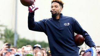 Watch The Giants' Odell Beckham Jr. Break The World Record For One-Handed Catches