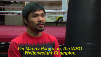 Wait…Hang On. Is Manny Pacquaio Taking Up Pro Wrestling?