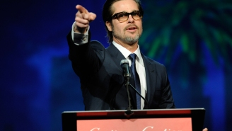 Brad Pitt leads an 'Oyelowo' sing-along at Palm Springs awards gala