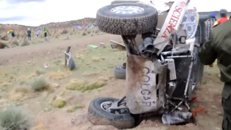 Watch As Chaos Ensues Following A Horrible Crash At The Dakar Rally