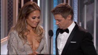 Jeremy Renner Is Not Sorry For His Joke About Jennifer Lopez's 'Golden Globes'