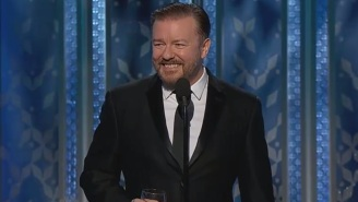 Watch Ricky Gervais Name Names And Point Fingers During His Golden Globes Presentation