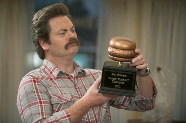 Ron Swanson Burger Champion