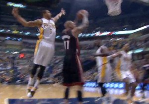 GIFs: George Hill Blocks Birdman From Behind, Goes Coast-To-Coast For Jam