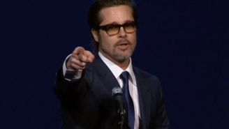 Brad Pitt Teaches Us How To Pronounce 'Selma' Star David Oyelowo's Name With A Song