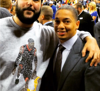 Tyronn Lue Takes Photo With Fan Wearing Iverson Step Over Shirt (Video)