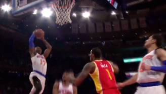 GIF: Knicks Finish Fast Break In Playground Style
