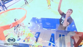 GIF: Andrew Wiggins Hits Dee Brown-Esque Floater While Covering His Own Eyes