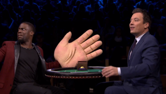 Kevin Hart Takes Out His Frustration On Jimmy Fallon's Face During This Game Of 'Slapjack'