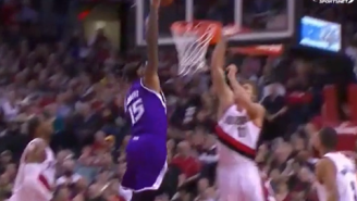 GIF: Rudy Gay's Casual No-Look Feed For Boogie Jam
