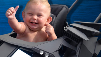 This Isn't The Batmobile Stroller Your Baby Needs. It's The One It Deserves.