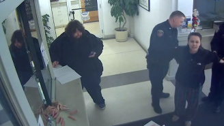 Video Has Surfaced Of The Woman Who Threw Raw Bacon At Police Because God Told Her To 'Feed The Pigs'