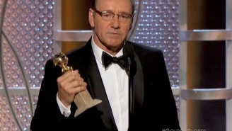 In Case You Missed It, Here's Kevin Spacey Dropping An F-Bomb During His Golden Globes Acceptance Speech